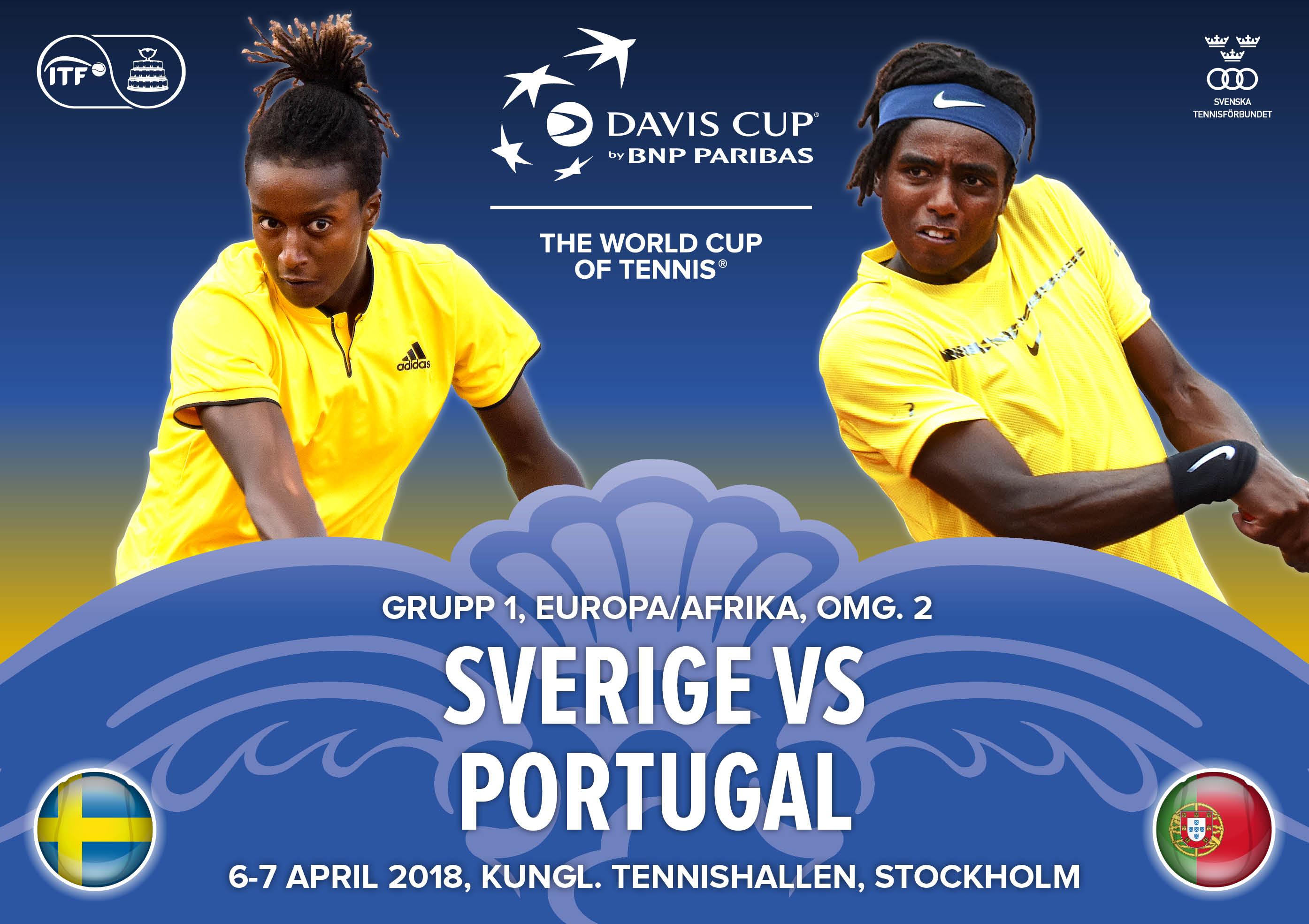Vi söker funktionärer till Davis Cup-matchen mellan Sverige och Portugal som spelas i Kungl. Tennishallen, Stockholm den 6-7 april.